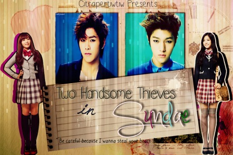 Two Handsome Thieves in Sundae poster psd 2